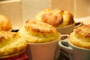 goats' cheese souffle